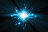atom blue Light Abstract Technology background
