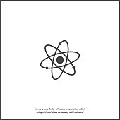 Atom icon on white isolated background. Layers grouped for easy editing illustration. For your design