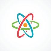 Atom Icon Sign on white background