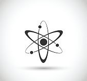 Atom icon  - simple vector illustration isolated on white background
