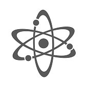 Atom icon vector simple isolated on white background
