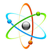 Vector illustration of an atom symbol
