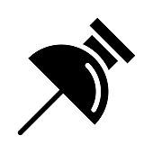 attach pin Glyphs Vector Icon