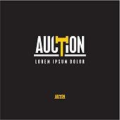 Auction vector logo design