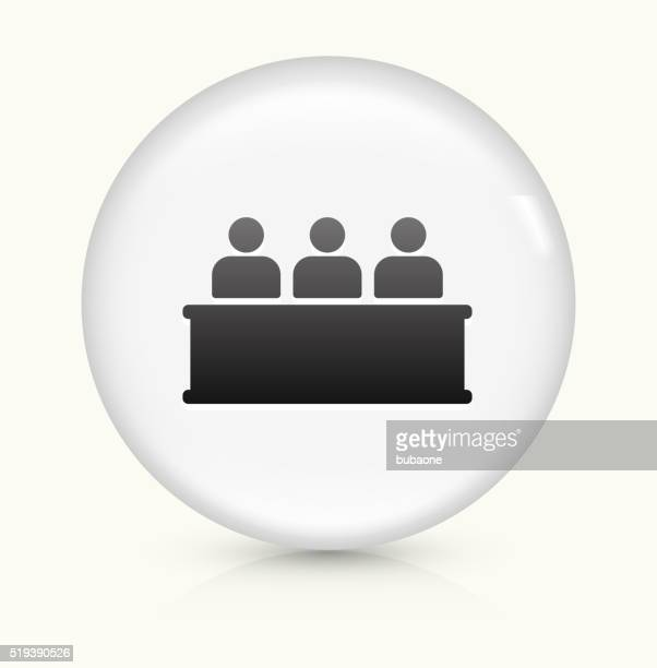 Audience icon on white round vector button
