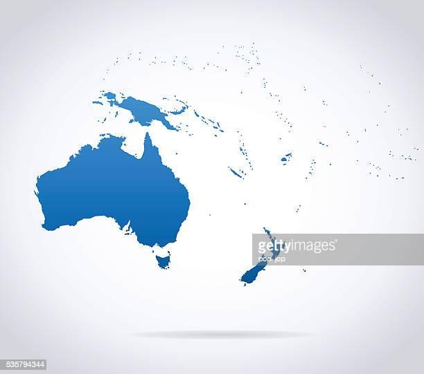 Carte de l'Australie et Océanie