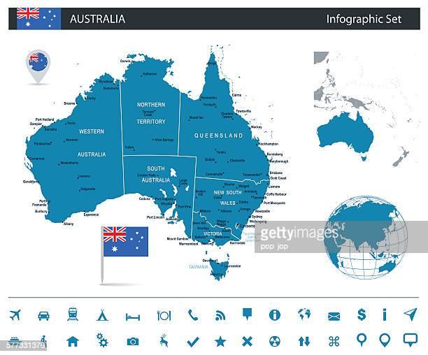 Australie-plan de l'infographie-Illustration