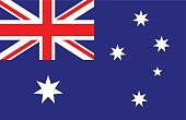 Vector of nice Australian flag.