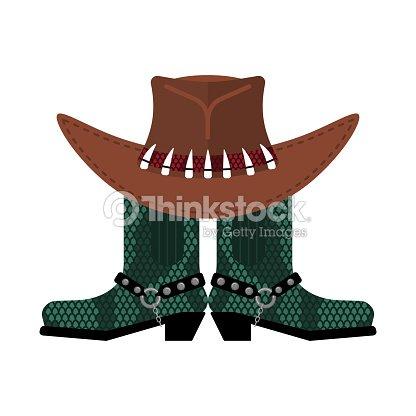 Sombrero australiano y cocodrilo piel botas. Python y gorro de vaquero de  cuero de zapatos. Zapatos ropa occidental y rodeo c17e49656a2