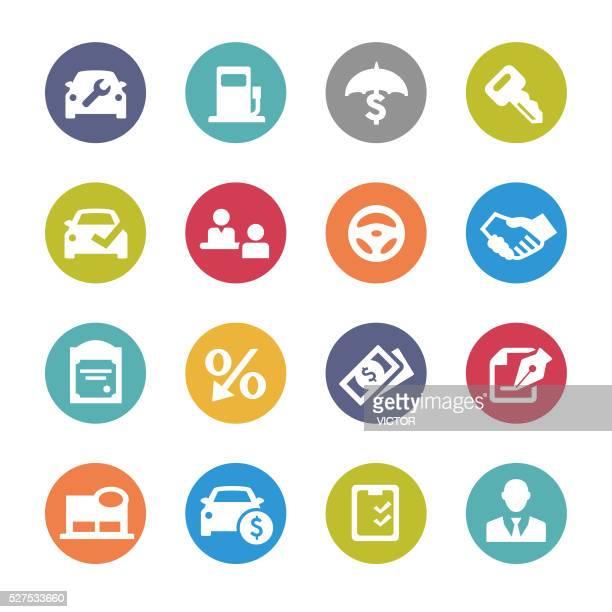 Auto Dealership Icons - Circle Series
