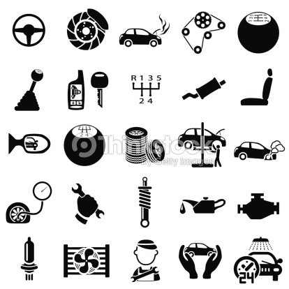 Auto Repair Icons stock vector - Thinkstock