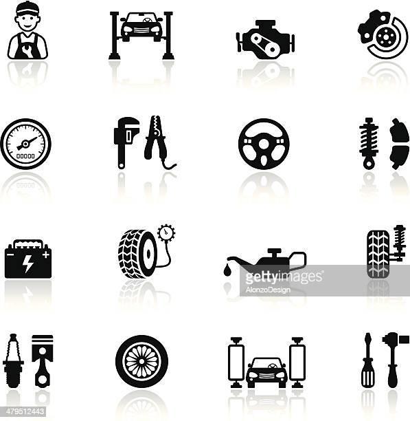 Auto servicio conjunto de iconos
