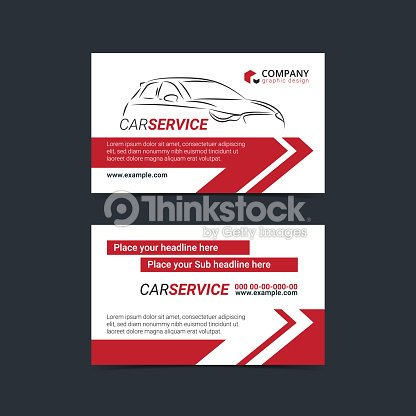 automotive service business cards layout templates create your own business cards mockup vector illustration - Create Your Own Business Cards