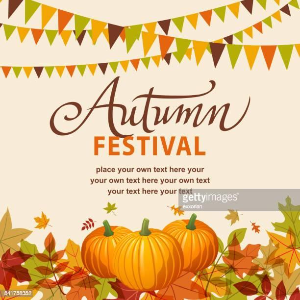 Festival de otoño con calabazas