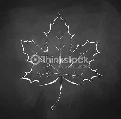 Herbst Blatt Tafel Zeichnen Vektorgrafik Thinkstock