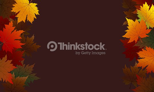 Autumn maple leaves on brown background with copy space vector illustration : stock vector