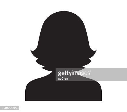 Avatar Icon Design for Woman : stock vector