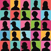 Set of opposite-sex avatars for your design