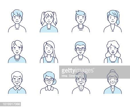 avatars : stock vector