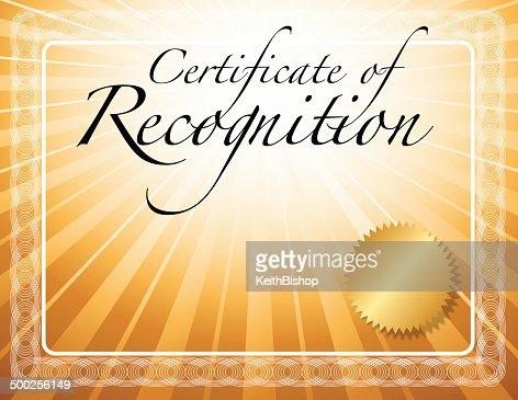 recognition certificate
