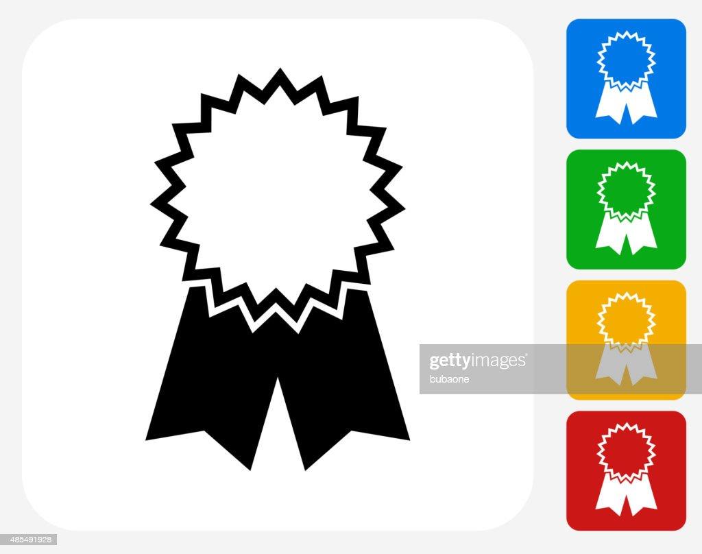 award ribbon icon flat graphic design vector art getty