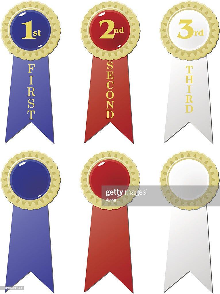 award ribbons vector art getty images