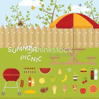 Awning and products for recreation and summer picnic in nature