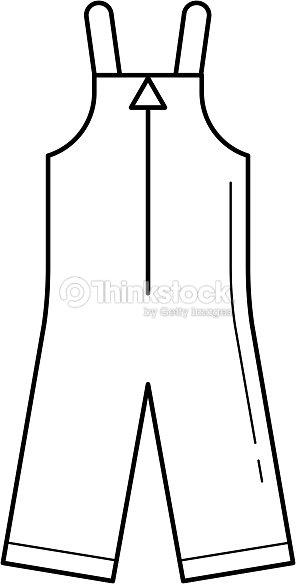 Icono de línea de vector de ropa de bebé   Arte vectorial f124da10bffe