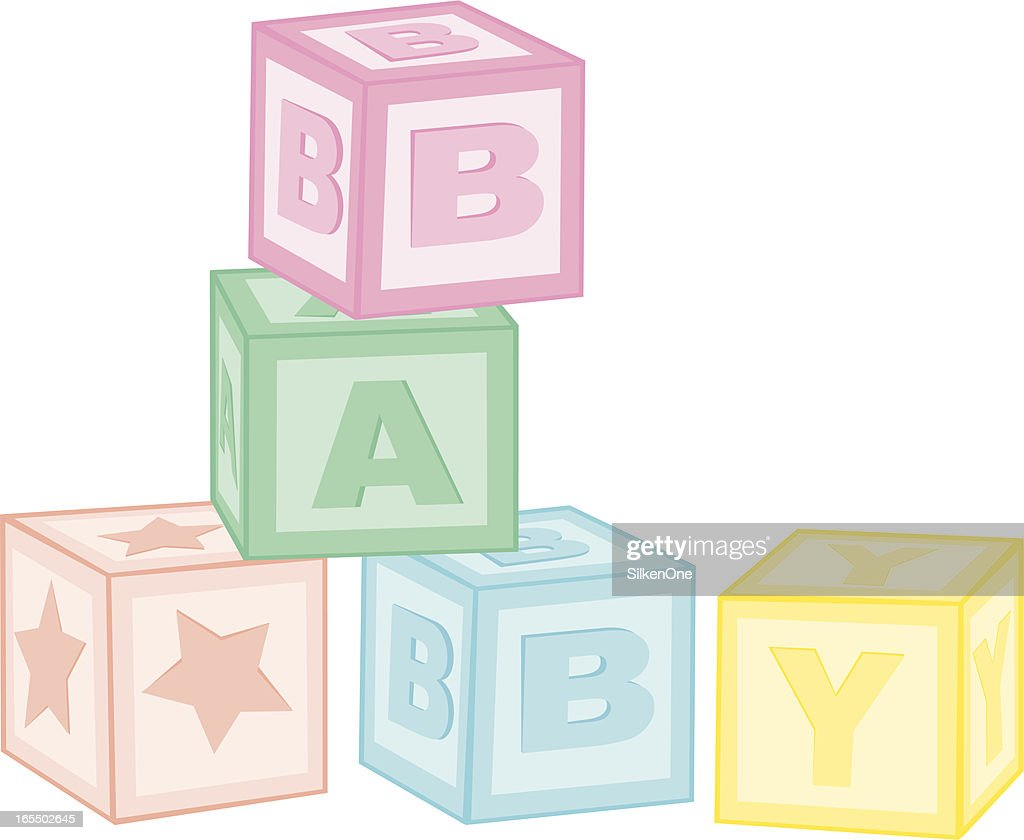 baby blocks vector art getty images