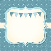 Baby boy arrival or shower card,