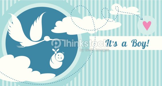 Baby Boy Birth Announcement Card Vector Art – Baby Announcement Messages