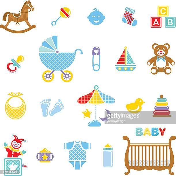 Baby Boy Icon Set