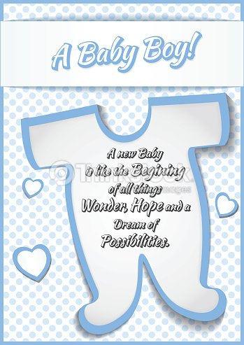 Baby boy shower greeting card vector illustration vector art baby boy shower greeting card vector illustration vector art m4hsunfo