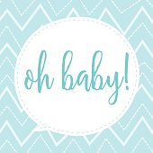 baby boy greeting card design