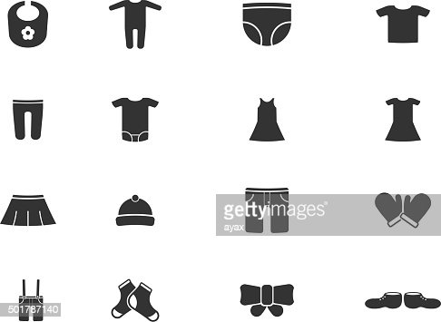 Baby Clothes Simply Icons Vector Art Thinkstock
