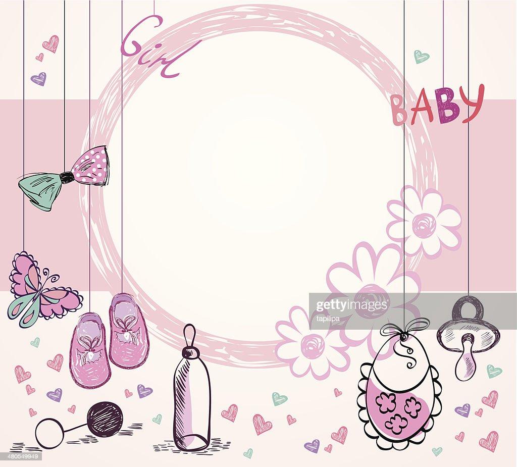 Baby Frame : Vector Art