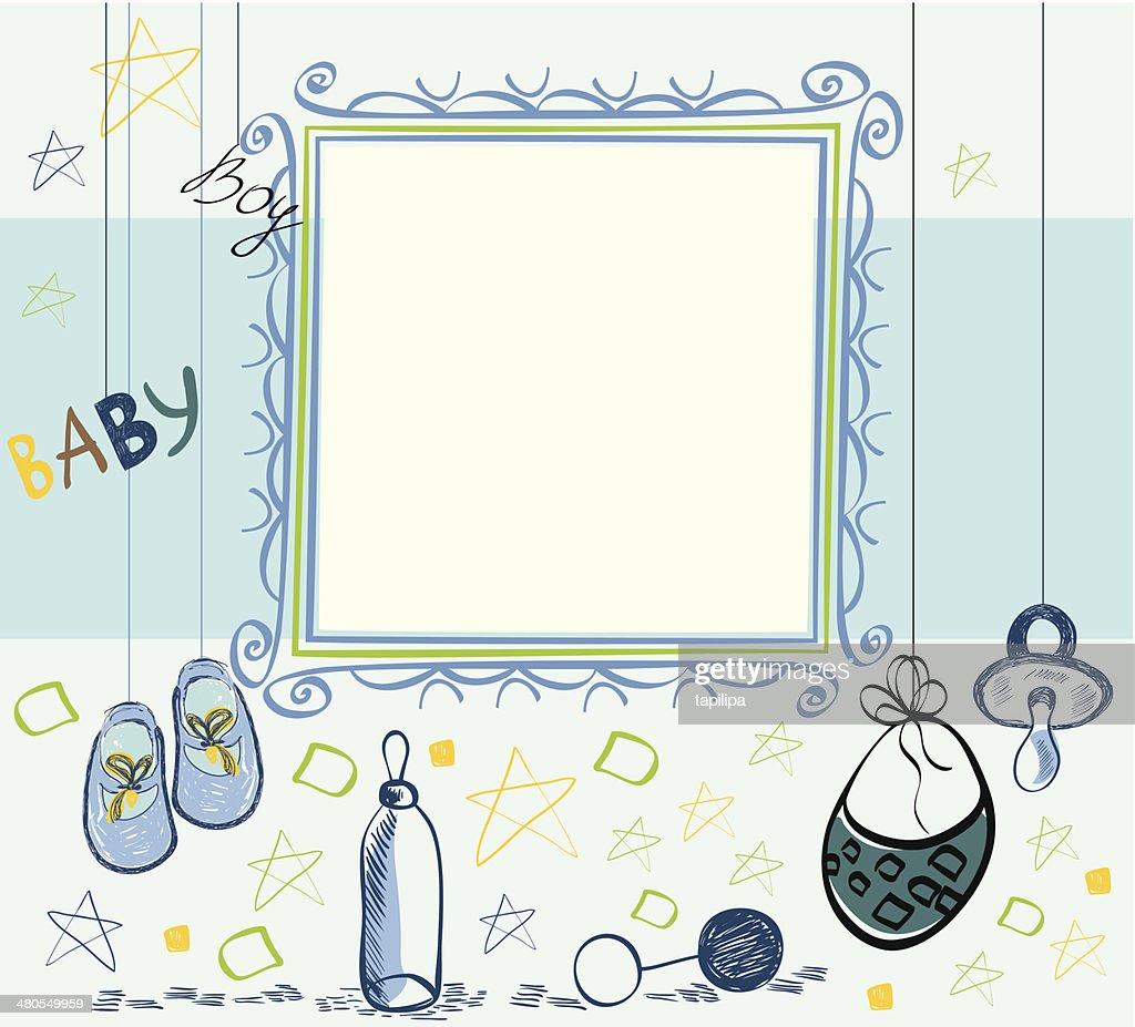Bastidor de bebé : Arte vectorial