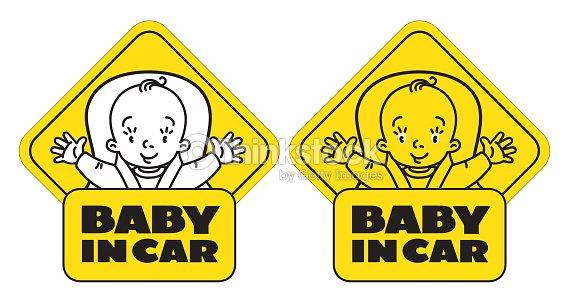 Baby Im Autositz Heckscheibe Aufkleber Oder Schild