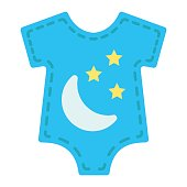 Baby romper flat icon, baby clothes and kid, vector graphics, a colorful solid pattern on a white background, eps 10.