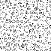 Baby seamless pattern for your design. Vector illustration