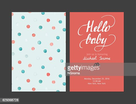 Baby Shower Boy Or Girl Invitation Vector Templates Pastel Cards