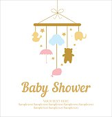 Baby Shower invitation card with cute design