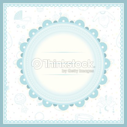 Baby Shower Greeting Card For Boy Stock Vector Thinkstock
