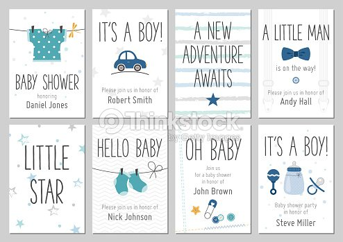 Baby Shower Invitations Baby Boy Arrival And Shower Cards Collection