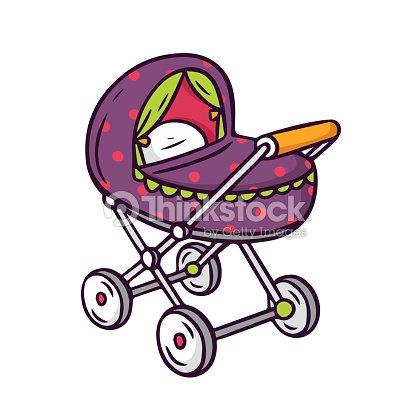Poussette lumineux vecteur enfants isol sur - Poussette dessin ...