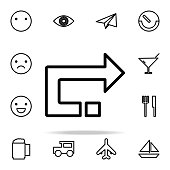 back arrow icon. web icons universal set for web and mobile on white background