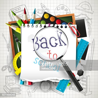 Back to school background : Vector Art