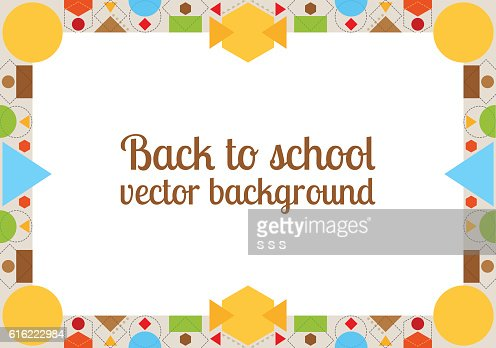 Back to school background with frame : Vector Art