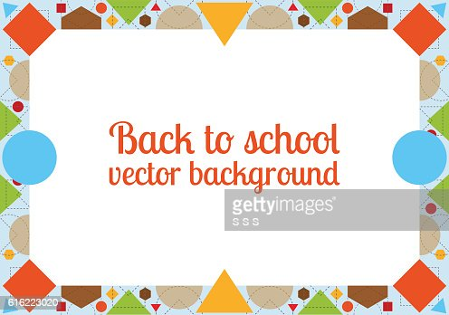 Back to school background with frame : Vektorgrafik