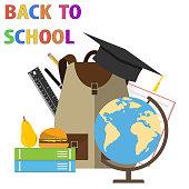 Back to school. Banner back to school. The beginning of school. Flat design, vector illustration, vector.